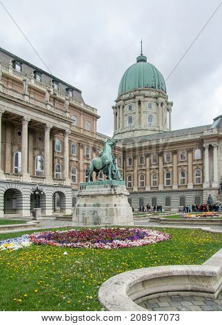 scenery at Buda Castle in Budapest the capital city of Hungary