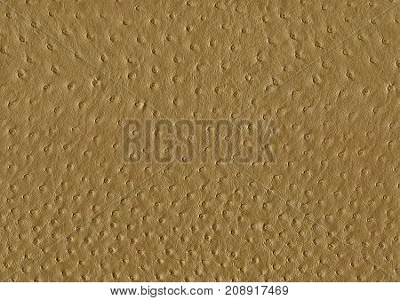 full frame abstract brown ostrich leather surface