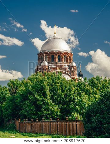 Church of the Theotokos Joy of All Who Sorrow at the IJohn-Baptist Monastery in City-Island Sviyazhsk Russia.