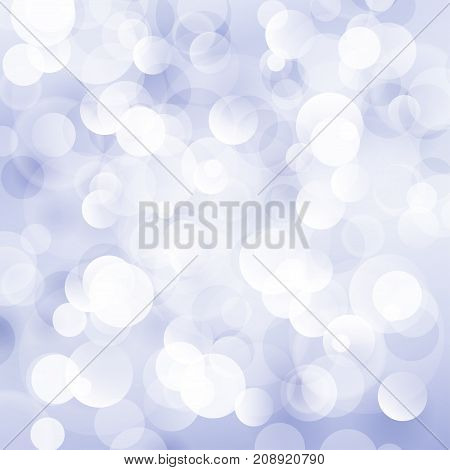 Blue Violet Soft Bright Abstract Bokeh Background Soft Glow of the Sun Defocused Lights