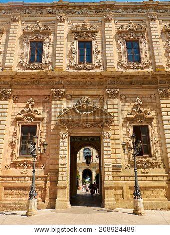 Palazzo Dei Celestini Of Lecce. Puglia, Italy.