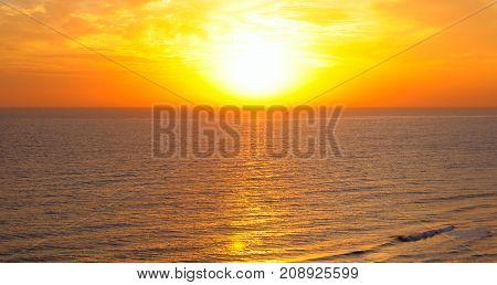 beach of the ocean and sun rise