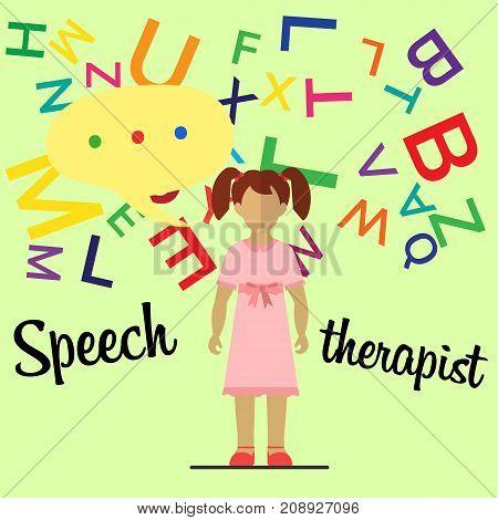 Speech Therapist. Little Girl