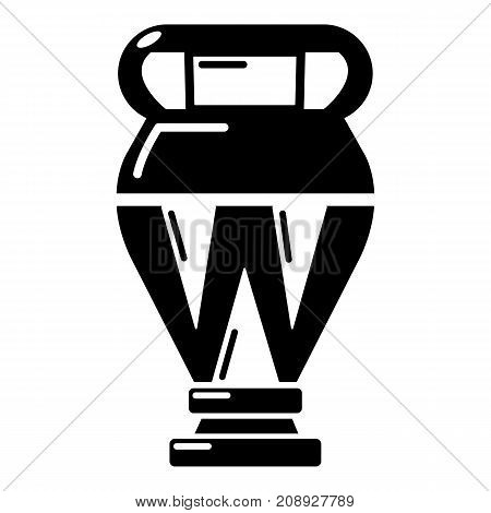 Egyptian vase icon. Simple illustration of egyptian vase vector icon for web