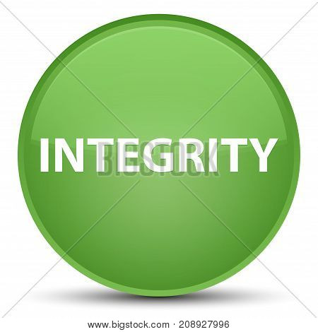 Integrity Special Soft Green Round Button