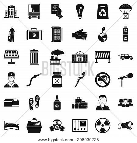 Barrier icons set. Simple style of 36 barrier vector icons for web isolated on white background