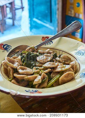 Orecchiette Of Puglia With Wild Rocket Salad.