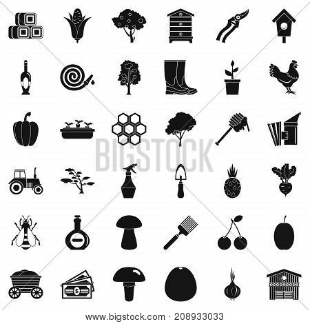 Wagon icons set. Simple style of 36 wagon vector icons for web isolated on white background
