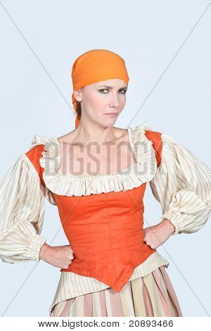 woman dressed as maidservant