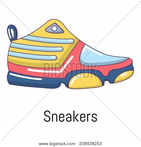 Sneakers icon. Cartoon illustration of sneakers vector icon for web