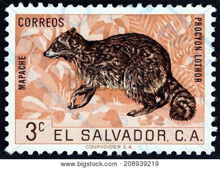 EL SALVADOR - CIRCA 1963: A stamp printed in El Salvador from the