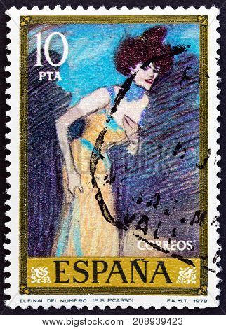 SPAIN - CIRCA 1978: A stamp printed in Spain from the
