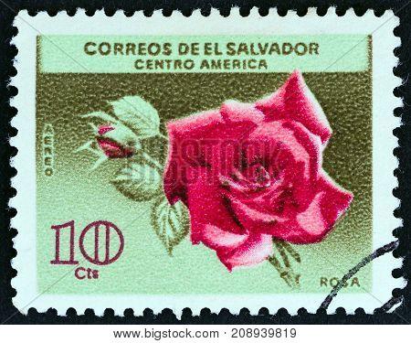 EL SALVADOR - CIRCA 1965: A stamp printed in El Salvador from the
