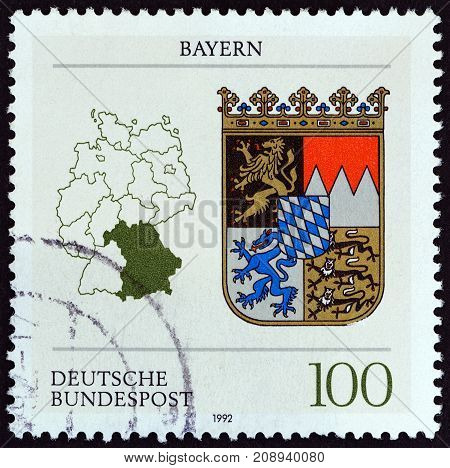 GERMANY - CIRCA 1992: A stamp printed in Germany from the