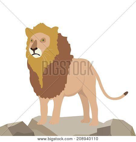 Lion icon. Flat design, vector illustration,