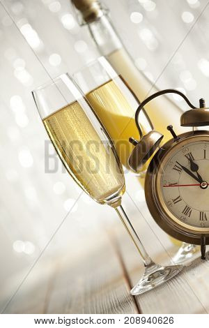 New Years Eve - Champagne And Alarm Clock