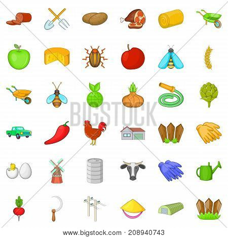 Ground icons set. Cartoon style of 36 ground vector icons for web isolated on white background