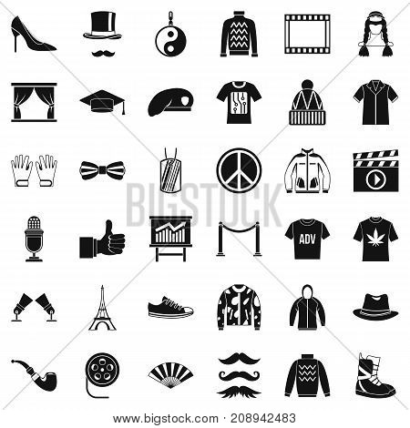 Fashion icons set. Simple style of 36 fashion vector icons for web isolated on white background
