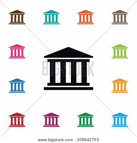 Museum Vector Element Can Be Used For Court, Building, Museum Design Concept.  Isolated Court Icon.