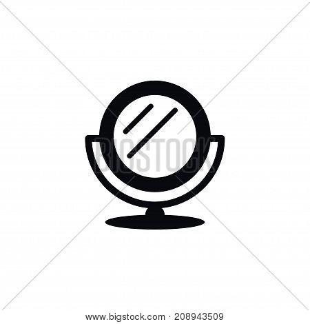 Mirror Vector Element Can Be Used For Mirror, Glass, Reflector Design Concept.  Isolated Looking-Glass Icon.