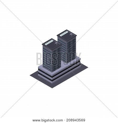 Tower Vector Element Can Be Used For Skyscraper, Building, Tower Design Concept.  Isolated Skyscraper Isometric.