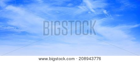 White Cirrus Clouds In Blue Sky At Day