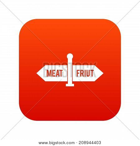 Department signs in the supermarket icon digital red for any design isolated on white vector illustration