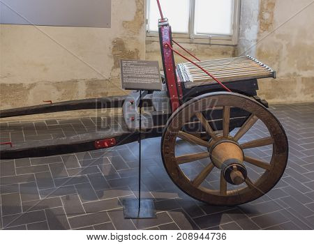 Paris; France- May 02; 2017: Twelve charging cannon of the second half of the 16th century. Museum of Orsay