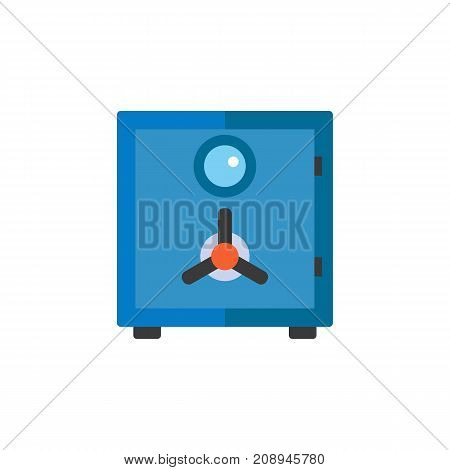 Vector icon of bank safe. Security, safe box, deposit. Protection concept. Can be used for topics like finance, banking, business