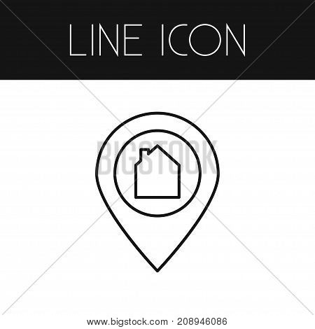 Location Vector Element Can Be Used For Location, Pin, Home Design Concept.  Isolated Pinpoint Outline.