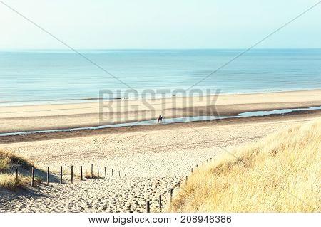 Sea Coast In Noordwijk, Netherlands