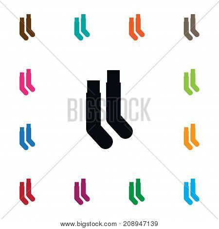 Half-Hose Vector Element Can Be Used For Half-Hose, Hosiery, Sock Design Concept.  Isolated Hosiery Icon.
