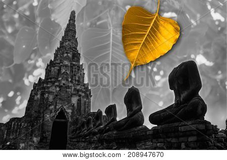 The leaves of the Bodhi tree symbolize Buddhism.