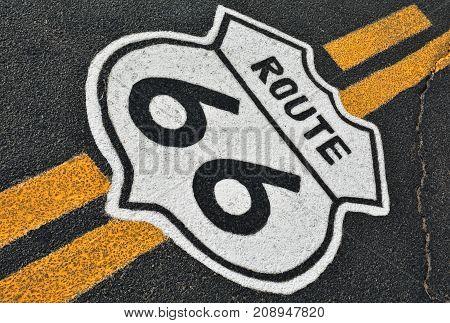 Route 66 In California, Usa.