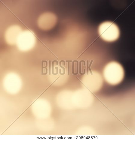 Bokeh Abstract glitter lights and stars. Festive vintage glittering Christmas background