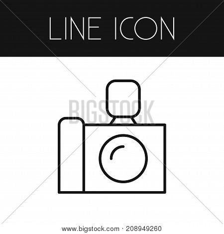 Camera Vector Element Can Be Used For Camera, Photo, Apparatus Design Concept.  Isolated Photo Apparatus Outline.