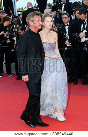 CANNES, FRANCE - MAY 20: Sean Penn, Dylan Penn  attends the 'The Last Face' premiere. 69th annual Cannes Film Festival at the Palais des Festivals on May 20, 2016 in Cannes