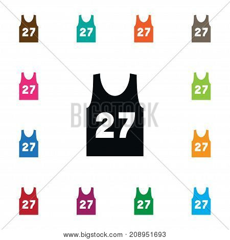 Singlet Vector Element Can Be Used For Singlet, Sleeveless, Shirt Design Concept.  Isolated Sleeveless Tank Icon.
