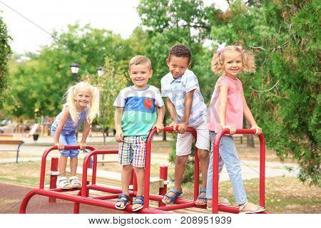 Cute children on playground
