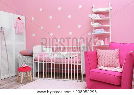 Beautiful interior of baby room