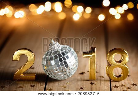 New year 2018 celebration,new year concept.