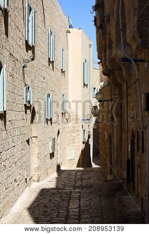 old street of the ancient city of Jaffa