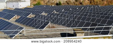 Photovoltaic Plates solar power in Barcelona Spain
