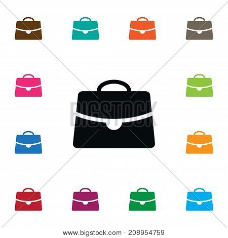 Document Case Vector Element Can Be Used For Handbag, Document, Case Design Concept.  Isolated Handbag Icon.