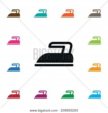 Iron Vector Element Can Be Used For Press, Iron, Hot Design Concept.  Isolated Press Icon.