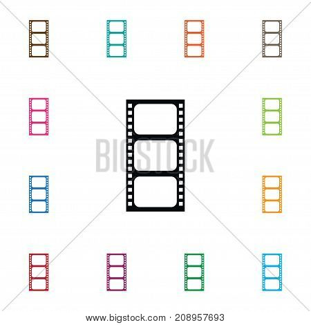 Record Vector Element Can Be Used For Cinematography, Film, Record Design Concept.  Isolated Film Icon.