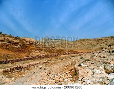 Traveling in Israel Middle East visiting city of Bethlehem visiting Bethlehem Judean desert