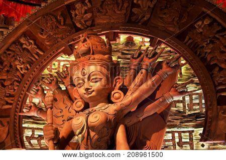 Durga Idol in Kolkata is a artistic creative presentation of Durga Idol.