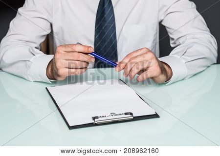 Cropped View Of Person Completing Application Form To Get Work