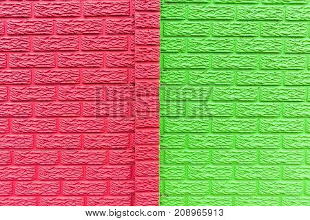 Wall Green Red Background